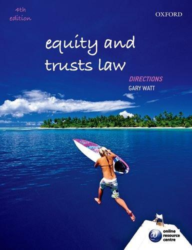 Equity And Trusts Law Directions 4th Edition Rent