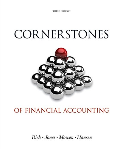 Cornerstones of Financial Accounting (with 2011 Annual