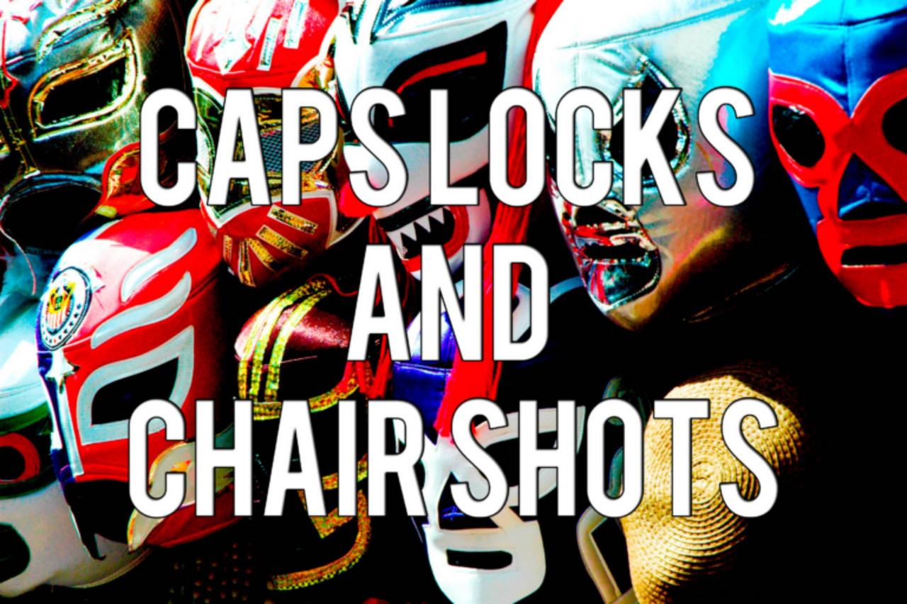 wrestling chair shots outdoor wicker chairs au caps locks and season 3 episode 13 we are
