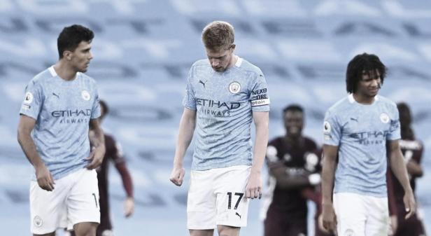 De Bruyne post 5-2 vs Leicester.  Photo: Premier League.