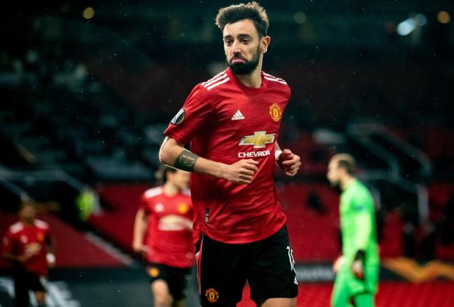 Bruno Fernandes in a match this season / Photo: Manchester United