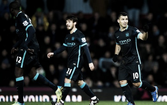West Ham 2-2 Manchester City: Agüero to the rescue for travelling sky Blues