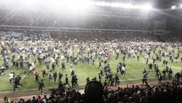 Aston Villa 2-0 West Brom: Pitch invasion controversy as Sherwood's men progress to Wembley