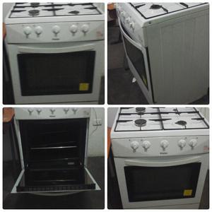 Cocina de 4 hornillas blanca marca haier  Posot Class
