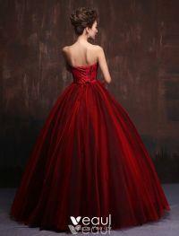 Gorgeous Prom Dress 2016 Strapless Impression Burgundy ...