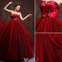 Gorgeous Prom Dress 2016 Strapless Impression Burgundy ...