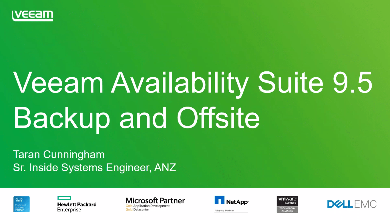 Veeam Availability Suite 9.5 backup and off site