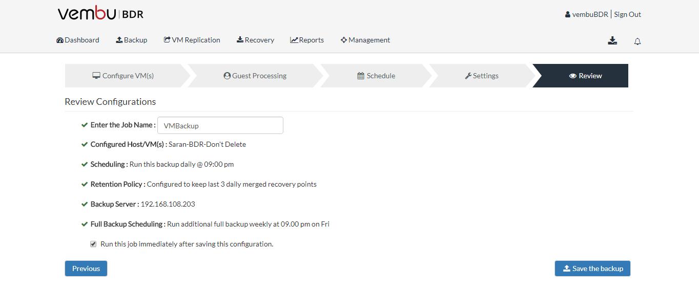 Vembu BDR Client Authorization with enhanced security
