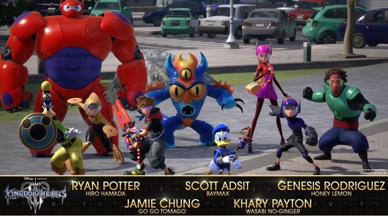 Elenco de actores original de Big Hero 6 para Kingdom Hearts 3