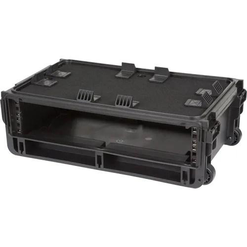 skb injection molded 2 ru studio flyer rack case