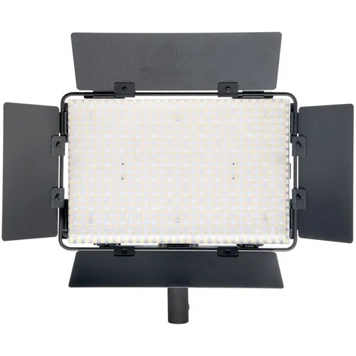 ledgo lg b560ii led light 5600k with 2 x aa battery pack handle barndoor filter and ac power supply