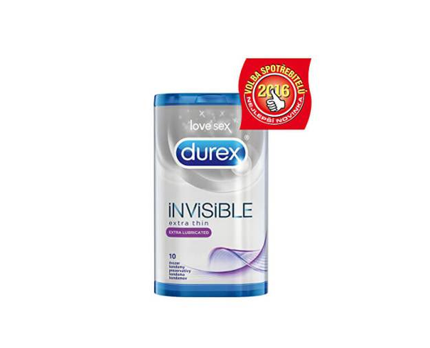 Kondomy Invisible Extra Lubricated (kDKR3631) od www.prozdravi.cz