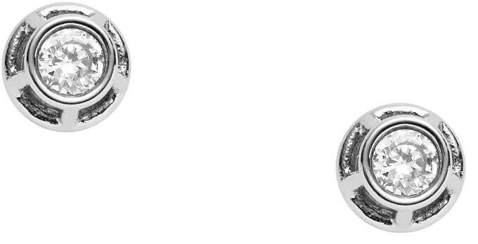 Fossil Ocelové dvojité náušnice JF02389040 Doprava ZDARMA