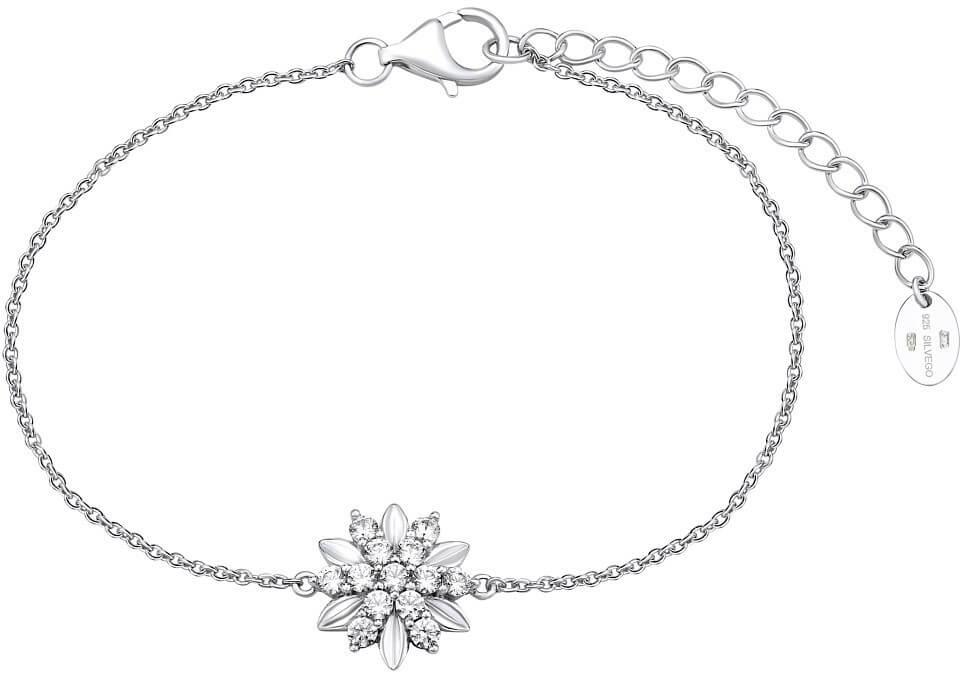Silvego Stříbrný náramek ALIVIA s krystaly Swarovski