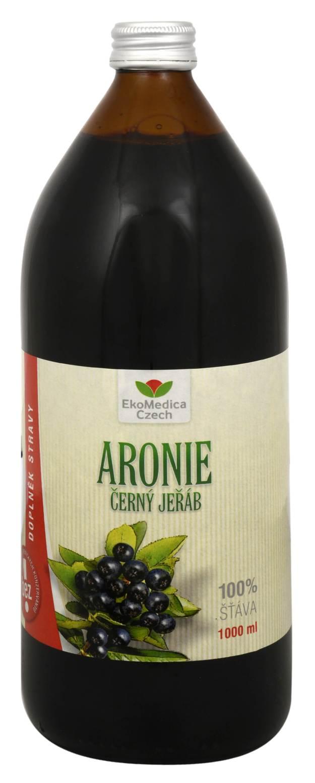 EkoMedica Czech Arónie - 100% šťáva z plodu aronie černoplodé 1000 ml (z44079) od www.kosmetika.cz