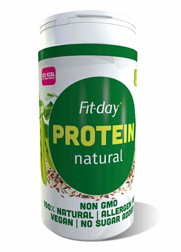 FIT-DAY FIT-DAY Plant based protein Natural 600 g (z49878) od www.kosmetika.cz