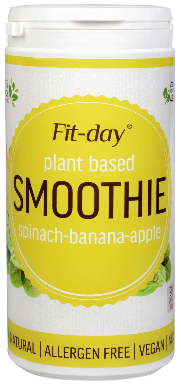 FIT-DAY FIT-DAY Plant based smoothie SPINACH-BANANA-APPLE 600 g (z49884) od www.kosmetika.cz