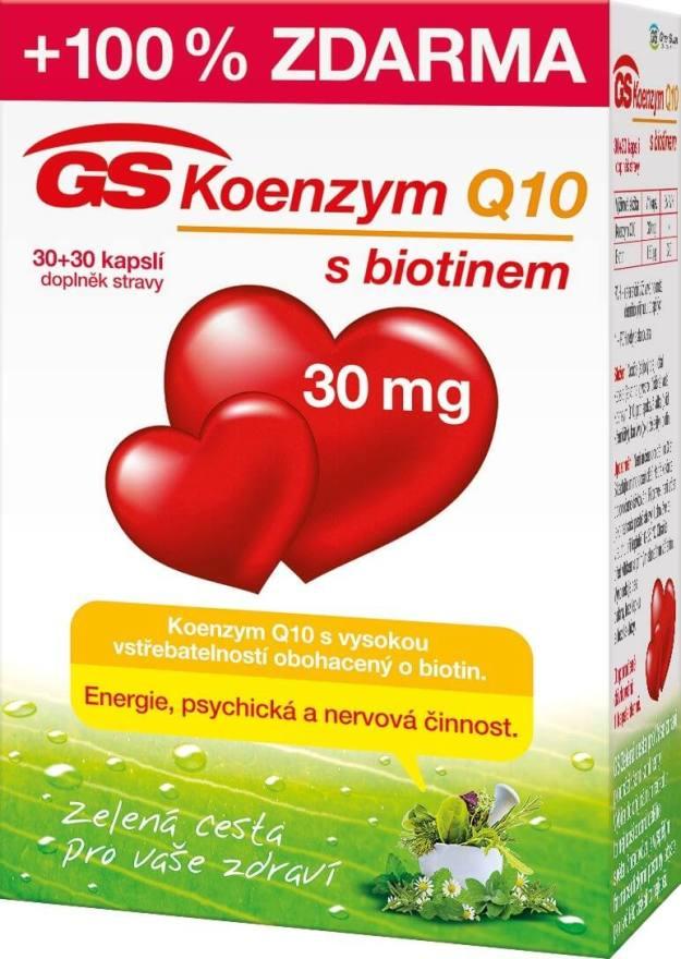 GreenSwan GS Koenzym Q10 30 mg 30 kapslí + 30 kapslí (z50449) od www.kosmetika.cz