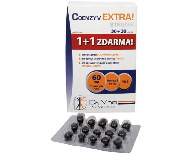 Coenzym Extra! Strong 60 mg 30 tob. + 30 tob. ZDARMA (z4634) od www.prozdravi.cz