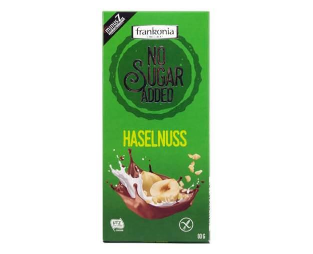 Mléčná čokoláda s lískovými oříšky bez přidaného cukru 80g (z54766) od www.prozdravi.cz