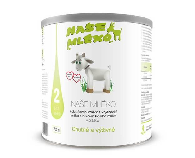 Naše mléko 2 (6-12 m) 750 g (z54891) od www.prozdravi.cz