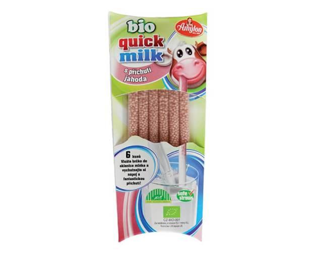 Bio Quick Milk Magická brčka do mléka s příchutí jahoda Amylon 6x6g (z55909) od www.prozdravi.cz
