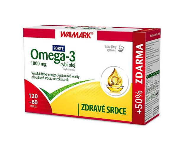 Omega 3 rybí olej Forte 120 tob. + 60 tob. ZDARMA (z55824) od www.prozdravi.cz