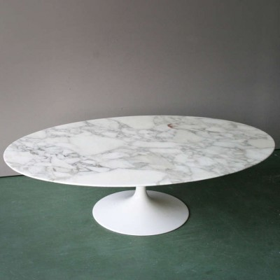 167 mc oval pedestal coffee table by
