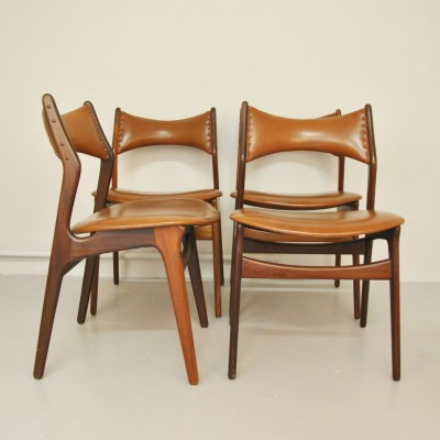 erik buck chairs french bergere chair and ottoman set of 4 model 310 dining by for christiansen mobelfabrik 1950s