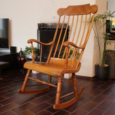 1920s rocking chair metal and leather dining boston rocker 24012