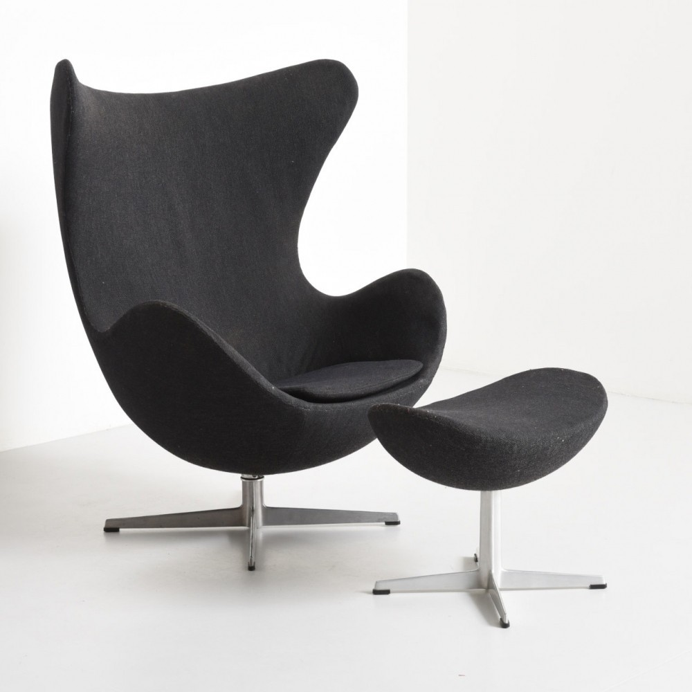 Egg Chair With Ottoman lounge chair by Arne Jacobsen for