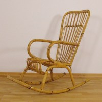 Bamboo rocking chair, 1950s | #52826