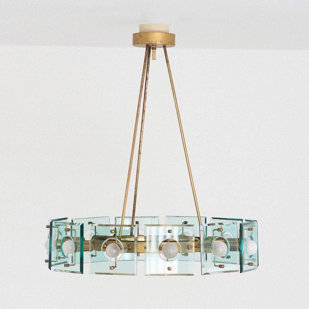 Crystal Arte hanging lamp, 1960s