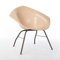 Original Peach Fiberglass Harry Bertoia Diamond Chair | #60998