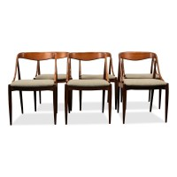 Set of 6 dinner chairs from the fifties by Johannes ...