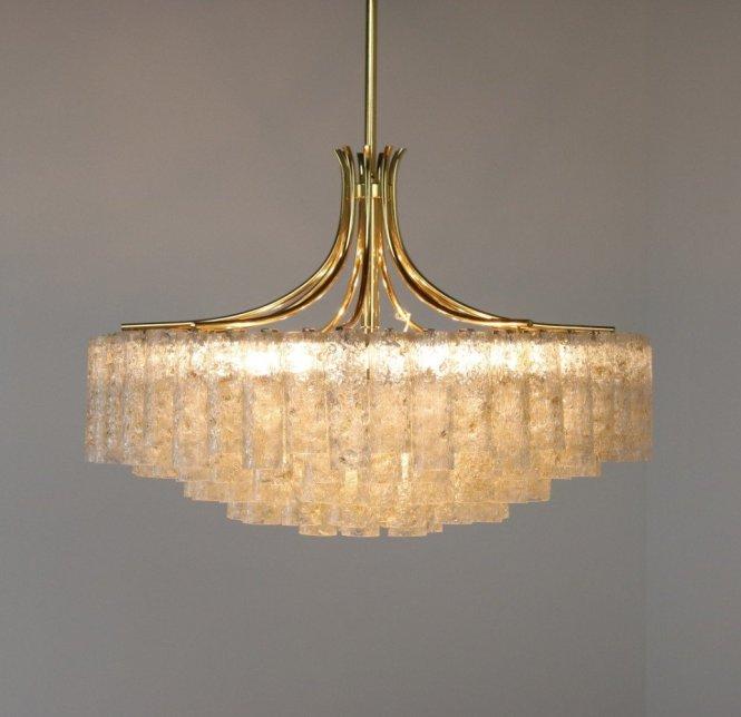 Monumental Chandelier Hanging Lamp By Doria Leuchten 1960s