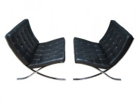 Vintage Knoll International Barcelona chairs by Ludwig