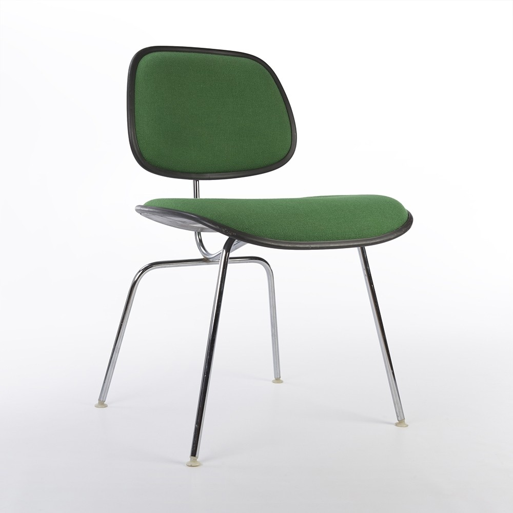 Green Upholstered Chair Original Green Herman Miller Eames Upholstered Plastic Dcm Chair