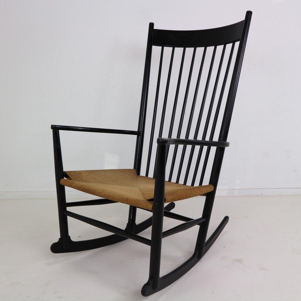 Black Rocking Chair J16 by Hans Wegner Denmark 1944  69874