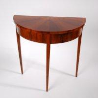 Half round small console table