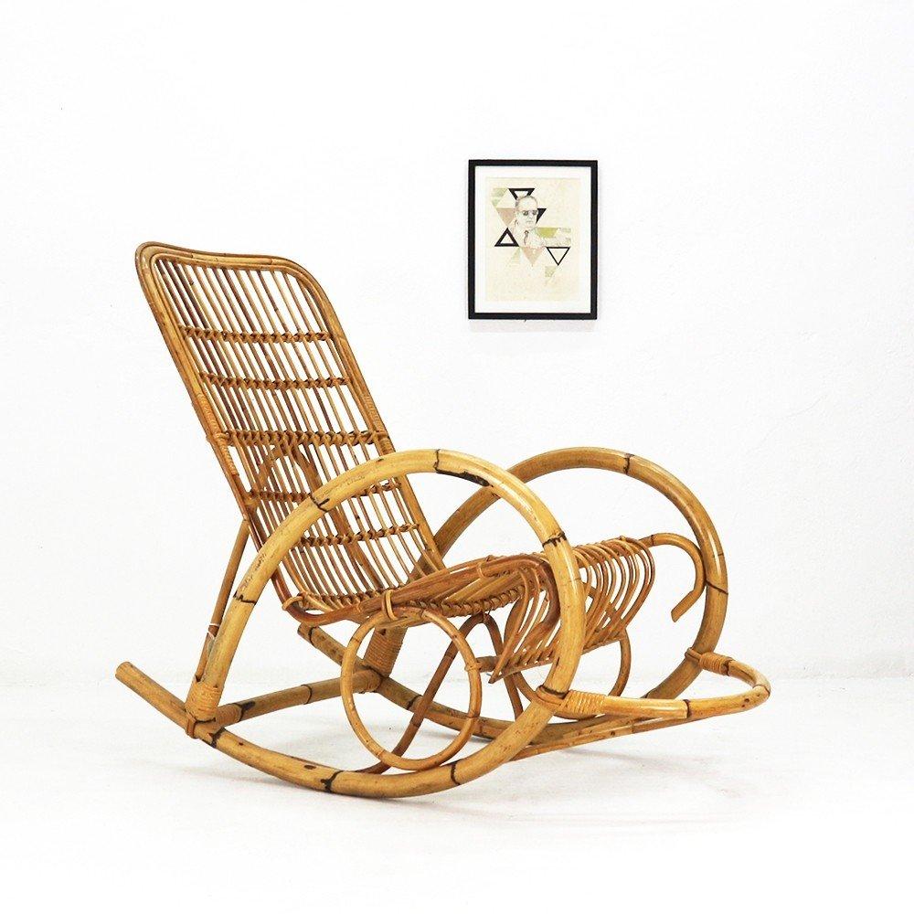 vintage wicker rocking chair revolving in guwahati 1960s 83672