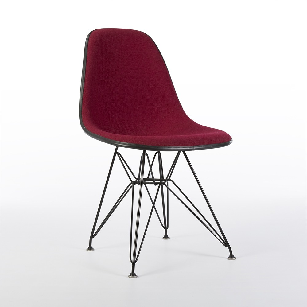 Red Upholstered Dining Chairs Original Herman Miller Red Upholstered Eames Dsr Dining Side Chair
