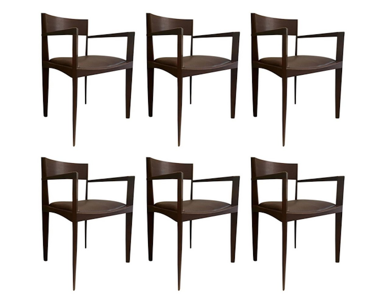 Italian Dining Chairs Set Of Six Italian Dining Chairs 1950s