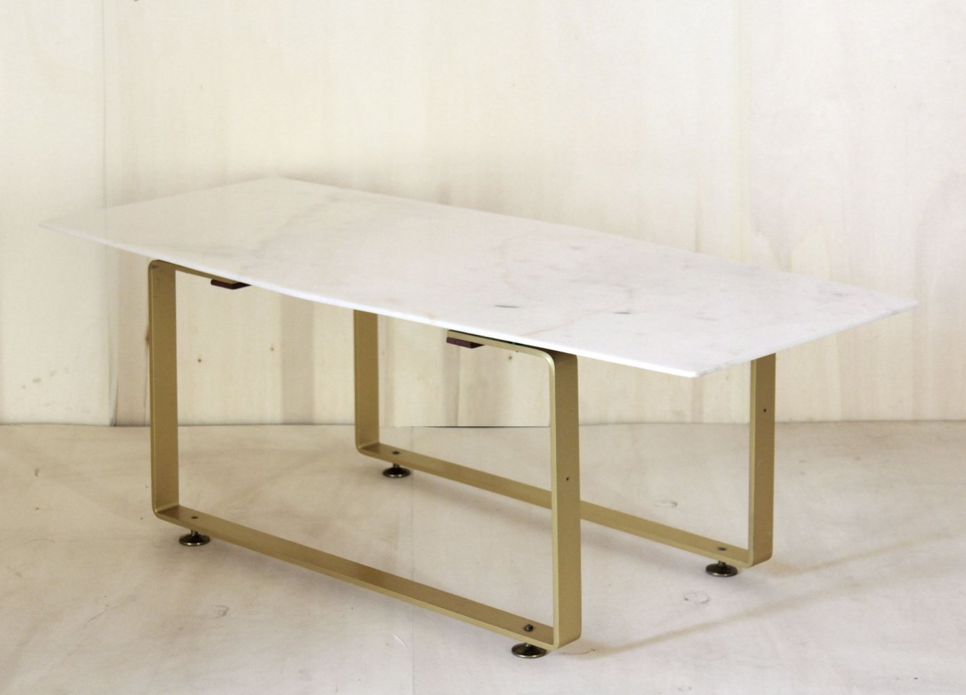 1970 vintage coffee table with marble