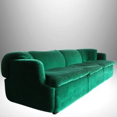 Leather Couch And Chair Set Egg Stand Italian Emerald Green Sofa By Alberto Rosselli For Saporiti 1972 | #59732