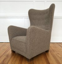 Mid Century 1940's Danish Armchair Wing Back Chair Model