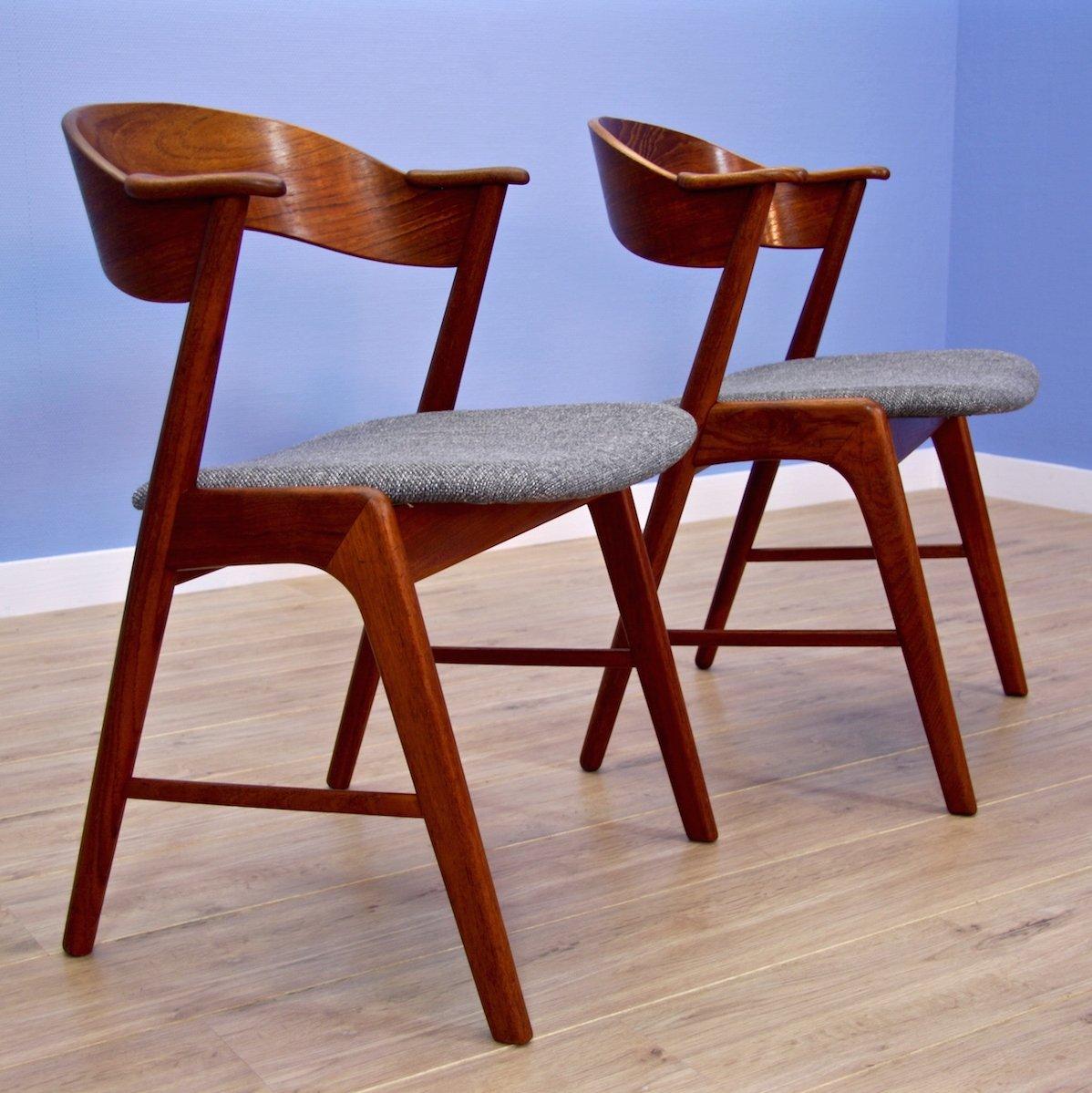 Pair of dinner chairs by Kai Kristiansen for Korup