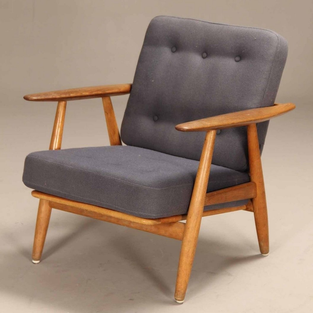 Cigar Lounge Chairs Ge 240 Cigar Lounge Chair By Hans Wegner For Getama 1960s