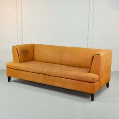 Nubuck Leather Sofa Richmond Recliner Cognac Colored By Paolo Piva For