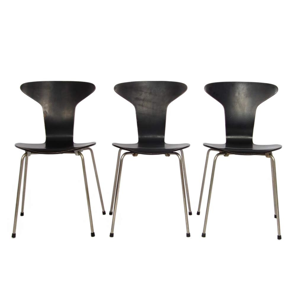 Fritz Hansen Chairs 3 X Munkegaard Mosquito Dinner Chair By Arne Jacobsen For Fritz Hansen 1950s